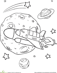 Small Picture Rad Rocket Ship Worksheet Educationcom