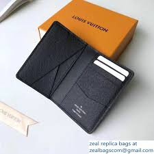 louis vuitton monogram pacific blue split pocket organizer wallet m63022 2018