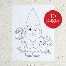 Small Picture Colouring Pages Gnome Town Garden Gnomes Instant
