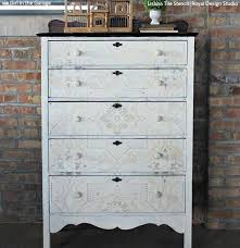 shabby chic style furniture. Shabby Chic Farmhouse Style Furniture - DIY Ideas Using Royal Design Studio Painting Stencils