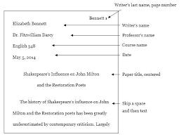 Mla Essay Format Heading Writing Is Easy
