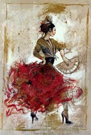 flamenco dancer with fan painting flamenco dancer flamenco dancer with fan art painting