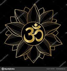 золото ом и Lotus векторное изображение Kronalux 157851406