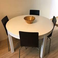 ikea bjursta extendable table white 115 166 cm furniture tables chairs on carou