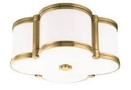 light fixture aged brass
