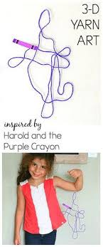 3d yarn art for kids inspired by the children s book harold and the purple crayon