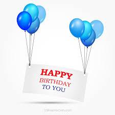 Blank Birthday Banner Happy Birthday Banner Clipart Vector Download Free Vector