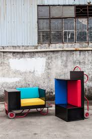 ... functions depending on how it's positioned. Attached to each design is  a hand truck, which doubles as the base, as well as the way the furniture  is ...