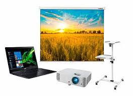 Экран Lumien Eco Picture 200x200 MW в комплекте с проектором ...