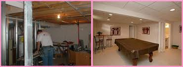 Top Basement Finishing Before And After Ideas To Address Your - Ununfinished basement before and after