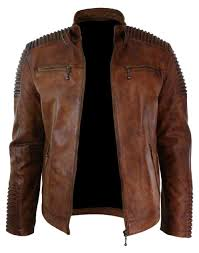 leather jacket clothes leather rhcom fairylinks mens stand collar faux jacket classic moto zip rhcom