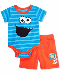 Nannette Baby Clothing Size Chart Nannette Baby Boy 12m Cookie Monster 2 Piece Short Set Nwt