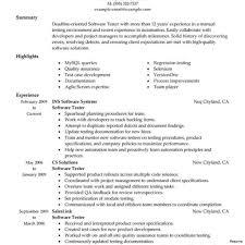 Sample Manual Testing Resumes Qa Manual Tester Sample Resume Unique Gui Testing Format Of Software 20