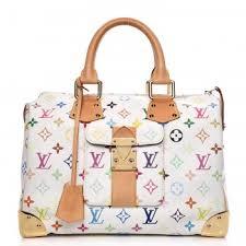louis vuitton white bag. louis vuitton multicolor speedy 30 blanc white louis vuitton bag