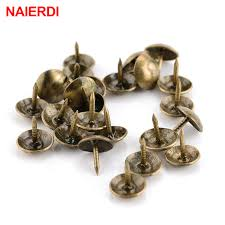 Decorative Jewelry Gift Boxes 100PCS NAIERDI 100100x100mm Bronze Tacks Antique Decorative Jewelry 76