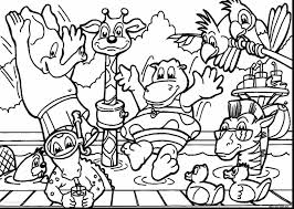 Jungle Animals Coloring Pages Preschool Printable Educations For Kids