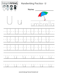 Kindergarten Handwriting Practice Worksheet Printable Fun For Kids