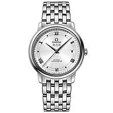 omega watches quality swiss watches ernest jones watches omega de ville prestige men s stainless steel bracelet watch product number 4981618