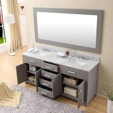 daston 72 inch gray double sink bathroom vanity