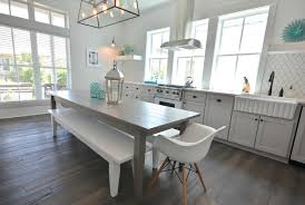 Gray kitchen table Beachy Gray Dining Table Decorpad Gray Dining Table Cottage Kitchen Lollygag Beach House