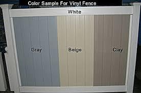 vinyl fence colors. Vinyl Fence Color Options Colors