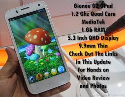 Gionee G2 Gpad Review Benchmarks ...