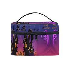 amazon makeup bag pumpkin castle travel cosmetic bags organizer train case toiletry make up pouch beauty
