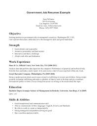Example Of Federal Government Resumes Example Of Cover Letter For Government Job Resume Cover Letter First