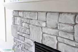 painted stone wallWhiteWashed Stone Fireplace  Life On Virginia Street