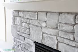 detail the final white washed fireplace
