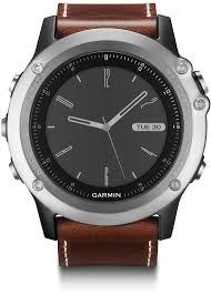 product images gallery garmin fenix 3 sapphire hrm silver leather band