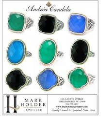 andrea candela at mark holder jeweller sterling silver 18kt yellow gold jewelry rings necklaces earrings bracelets