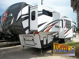evergreen tesla 3950 fifth wheel toy hauler exterior