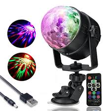 Rotating Disco Ball Light Us 16 99 20 Off Ir Remote Party Lights Sound Activated Strobe Light Rotating Disco Ball Stage Light Usb 5v 7 Colors Dj Effect Lights Christmas In