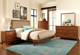 image modern bedroom furniture sets mahogany. Mid-century Brown Mahogany Wood Queen Size Bed With Upholstered Headboard, Splendid Mid Century Image Modern Bedroom Furniture Sets A