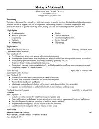 Examples Of Resumes For Customer Service Jobs Best Sales Customer Service Advisor Resume Example LiveCareer 21
