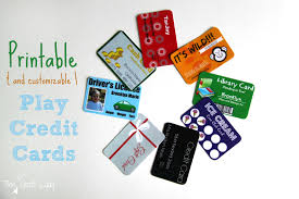 play credit cards make a play wallet with customized