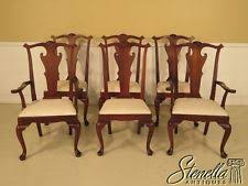 hickory dining room chairs. l43074: set of 6 hickory chair co. distressed mahogany dining room chairs hickory i