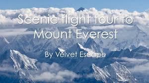 scenic flight to mount everest