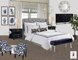Navy And White Bedroom Navy White And Gray Transitional Master Bedroom Room By Interior