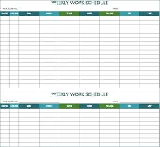 Work Schedule Spreadsheet Template Free Weekly Employee Work Schedule Template Limited Free