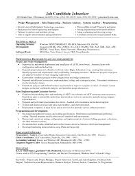 Examples Of Resumes Resume Higher Education Sample With Project