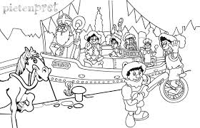 Sinterklaas Pakjesboot Kleurplaat Kleurplaten Coloring Pages