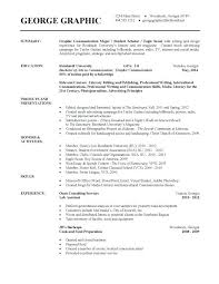 Objective For Resume For Students Custom Resume Examples From College Students And Current College Student R