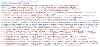 Microsoft Office Example An Example Of Microsoft Office Open Xml Tags Download