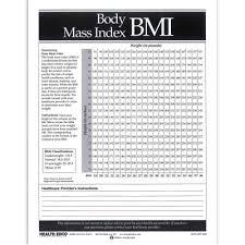 Body Mass Index Bmi Tear Pad Health Edco