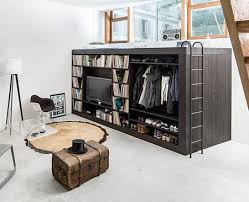 Image Compact Bathroom Tiny Apartments Creative Cool Modern Space Saving Furniture Bed Design With Black Cabinet Round Rugs Also Bedroom Furniture Fifthla Surprising Compact Furniture For Small Apartments Fifthlacom