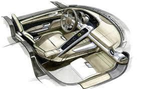 car interior sketch. Fine Car Porsche Plugin Hybrid 918 Spyder Sketch Interior To Car