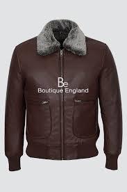 air force men s 1169 brown fur collar aviator er real nappa leather jacket