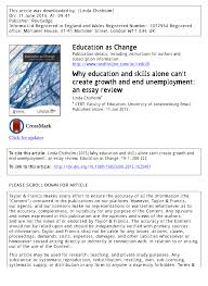 why education and skills alone can t create growth and end  why education and skills alone can t create growth and end unemployment an essay review pdf available
